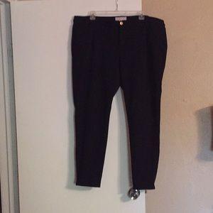 Michael kors black pants plus size